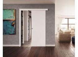 Porte coulissante Prima blanc pré peint (Kit Coul / Gold / Doortech)